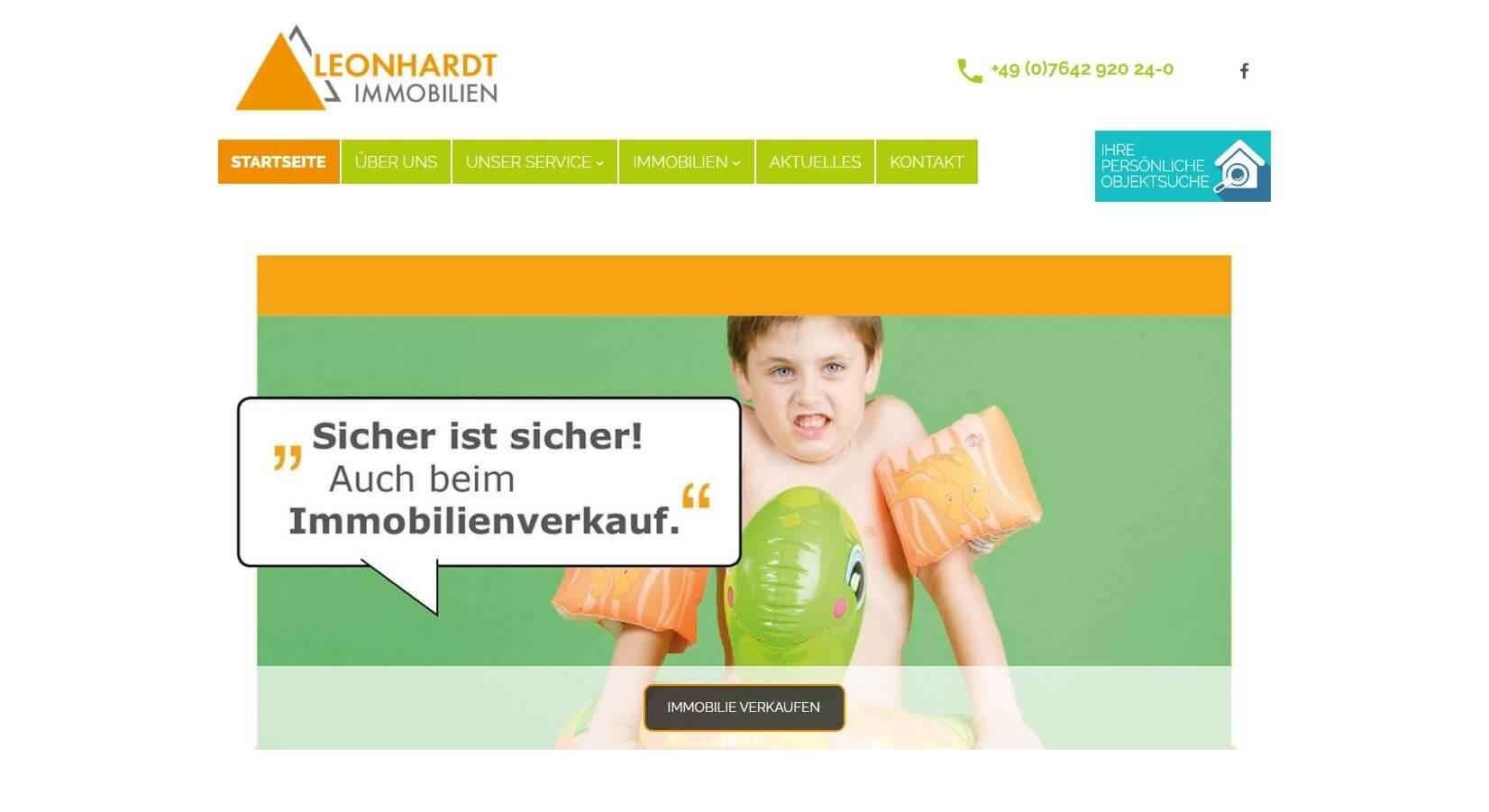 Screenshot Leonhardt Immobilien