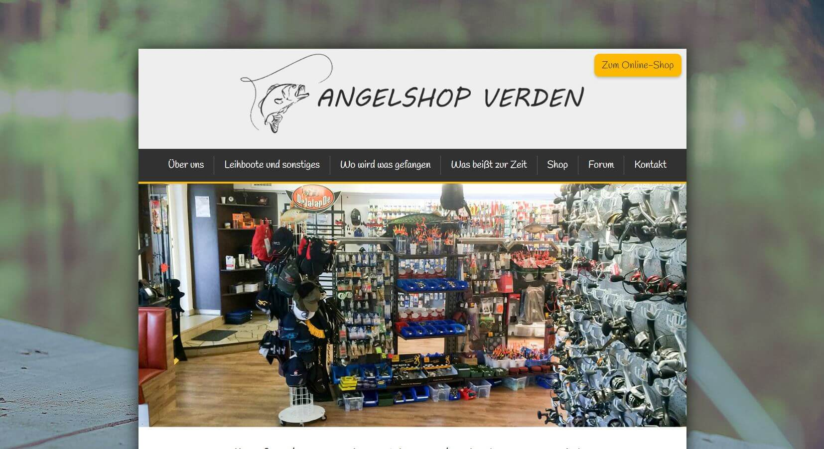 Screenshot Angelshop Verden
