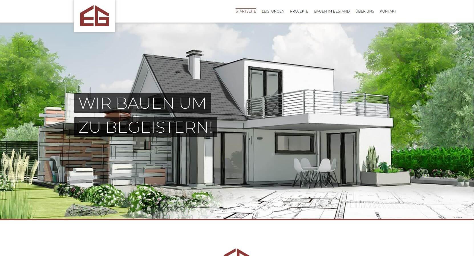 Screenshot Architekturbüro Gut in Hüfingen