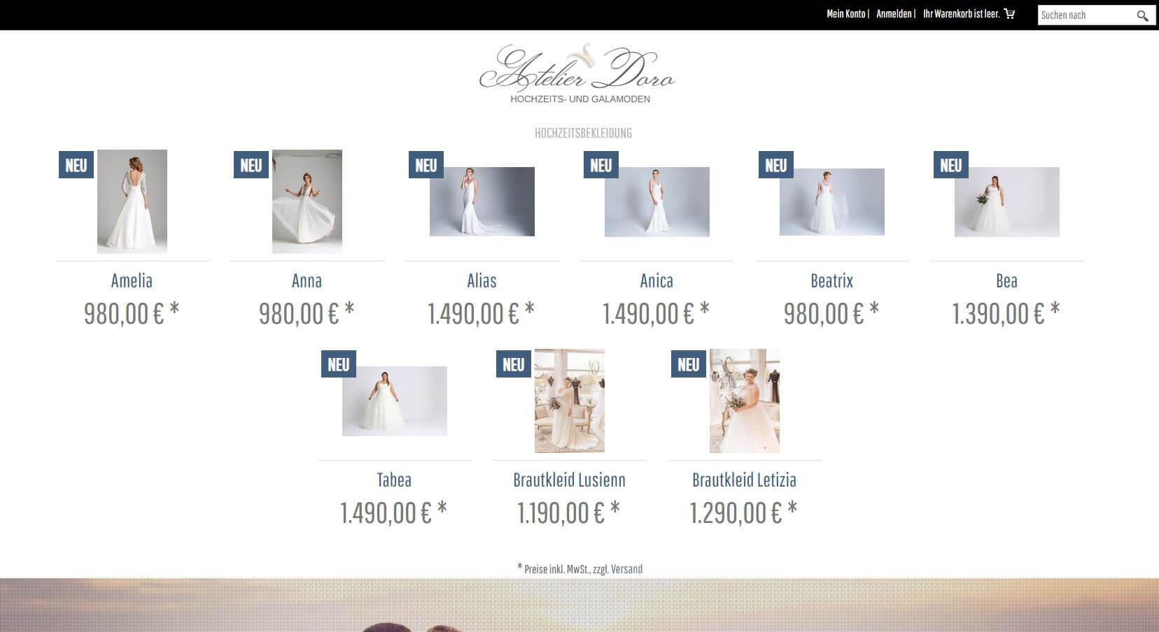 Screenshot Atelier Doro