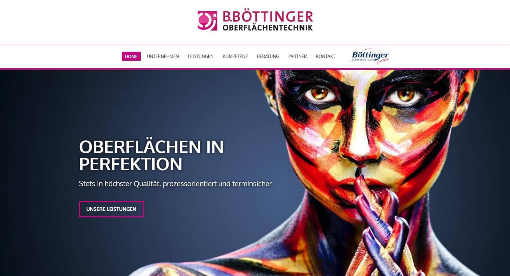 Screenshot B. Böttinger Oberflächentechnik