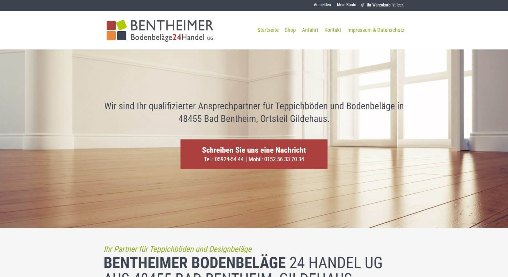 Screenshot Bentheimer Bodenbeläge