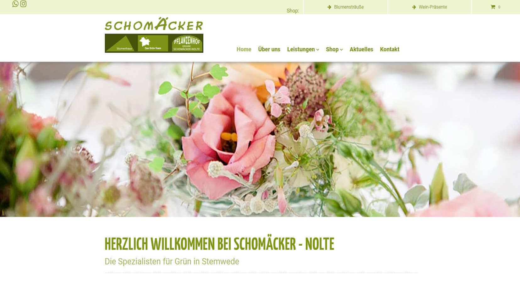 Blumen Schomäcker