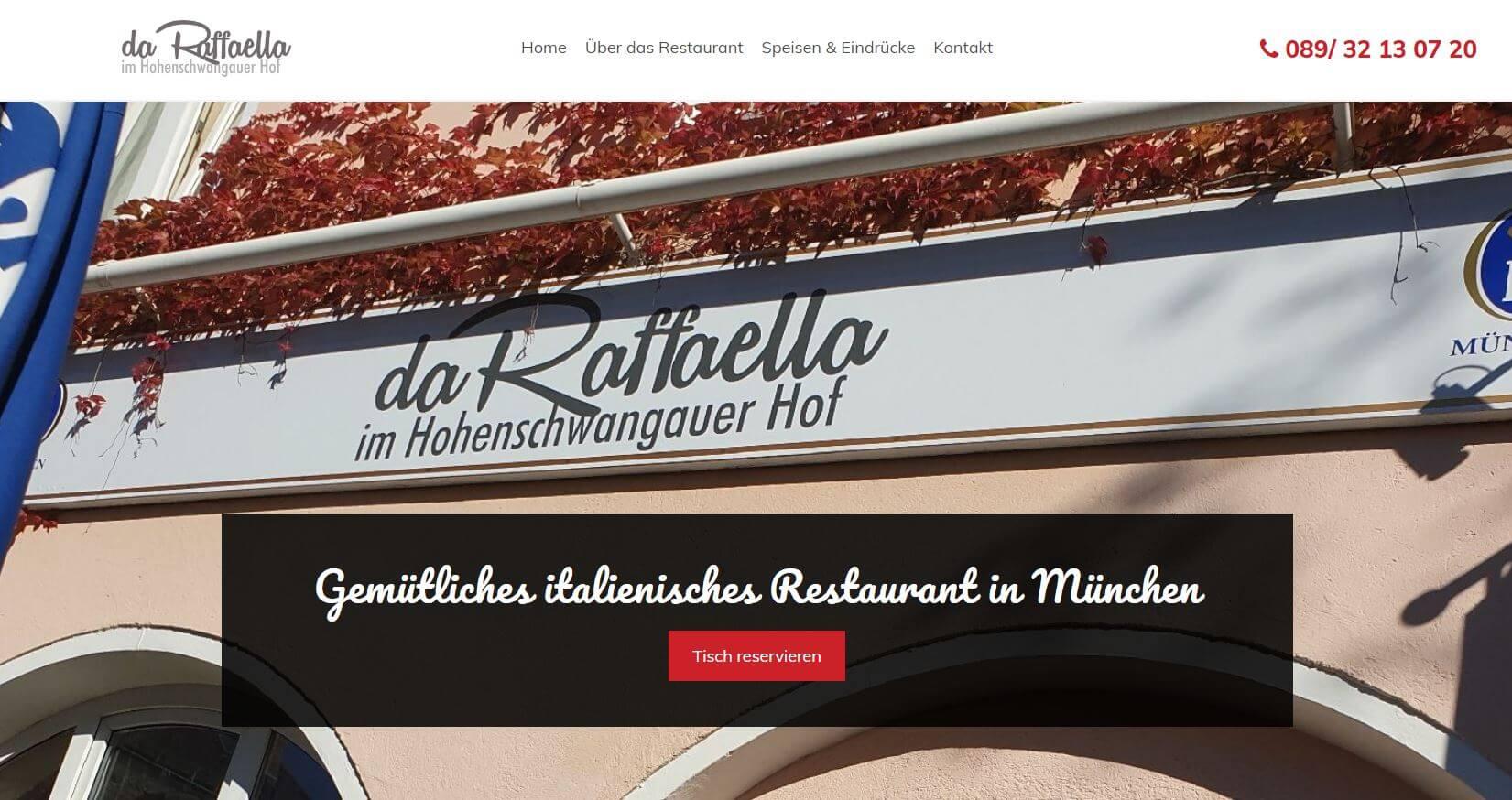 Screeshot Da Raffaella Restaurant