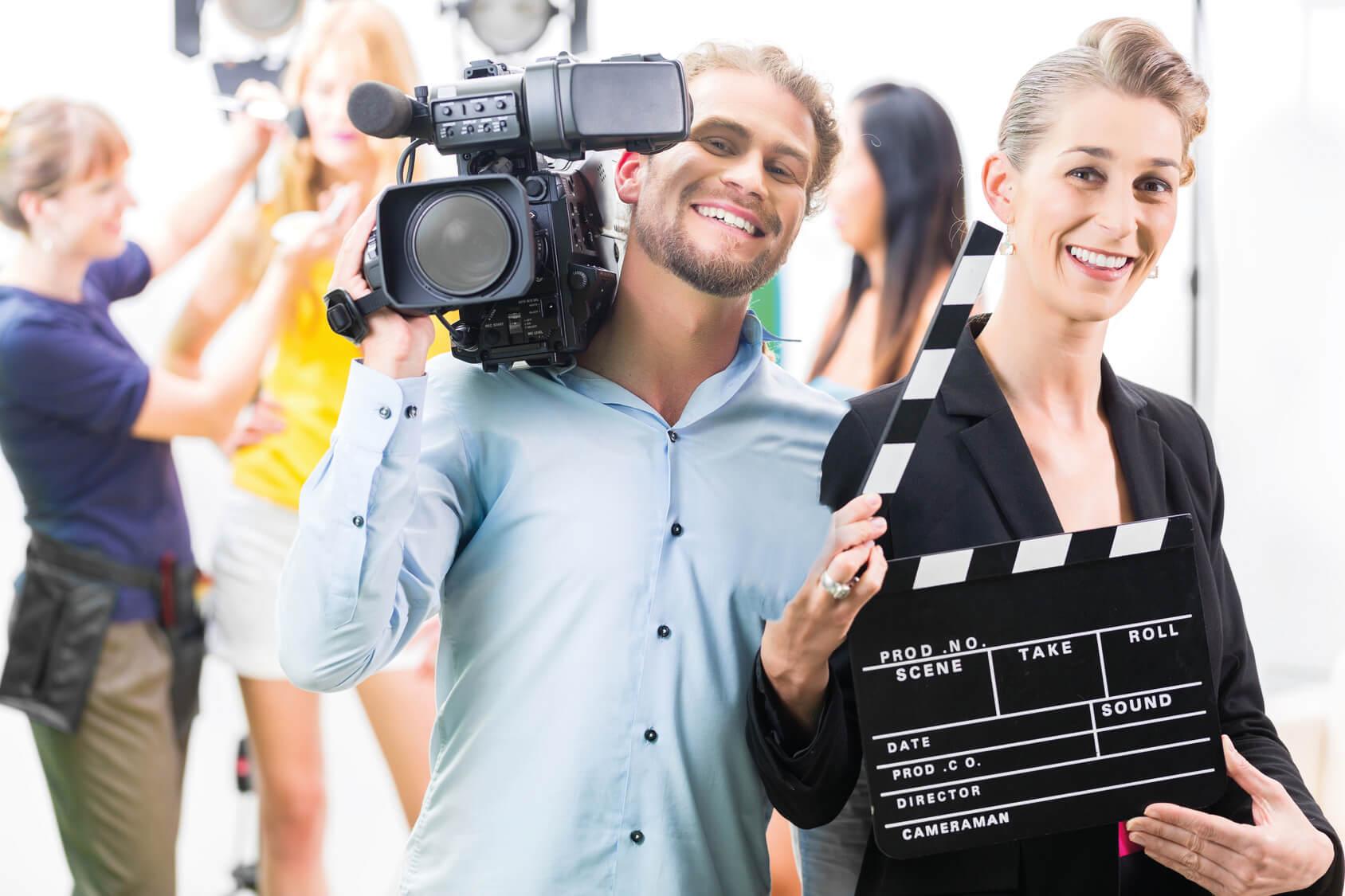 Kamerateam am Filmset