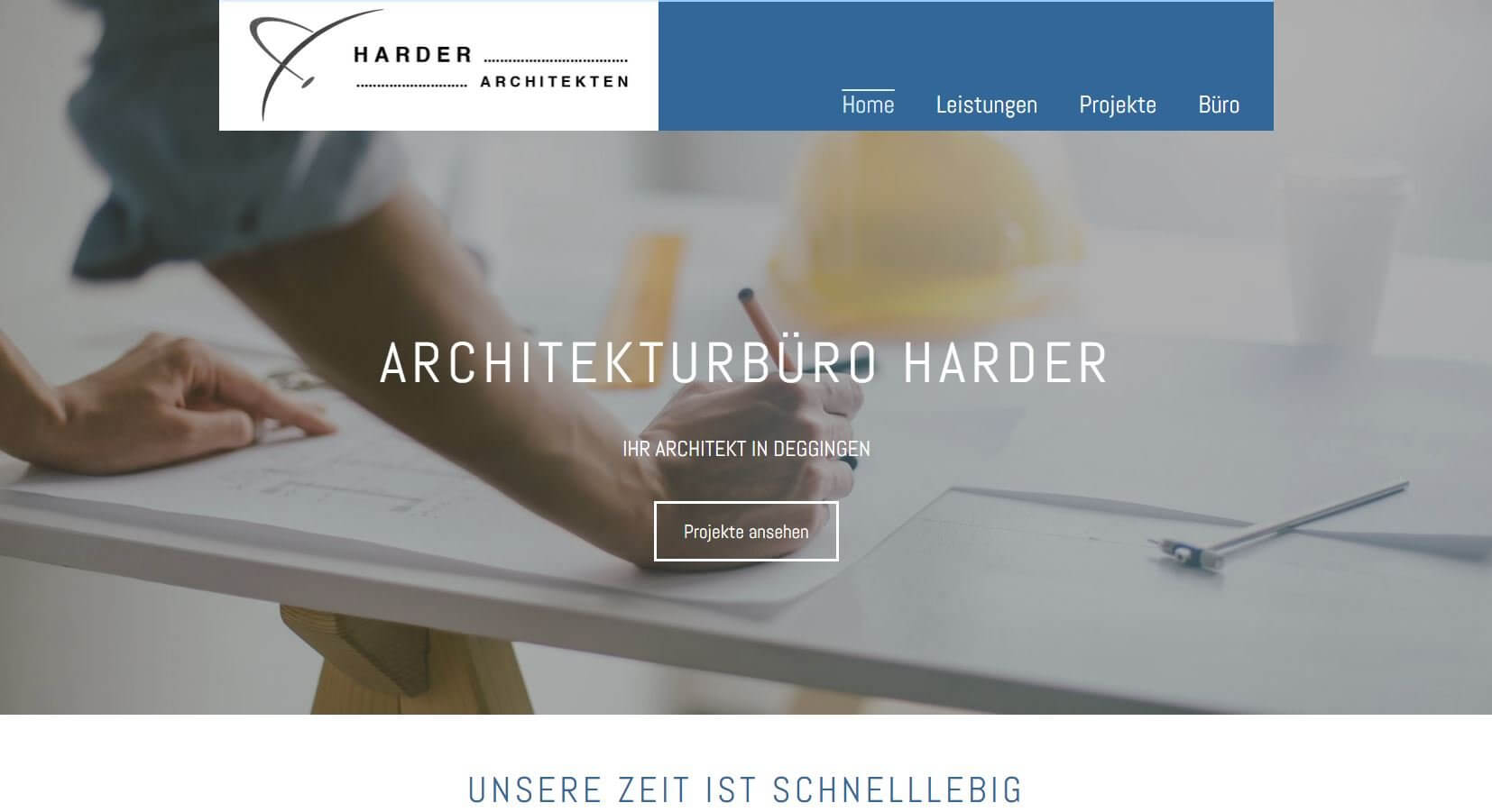 Screenshot Architekturbüro Harder