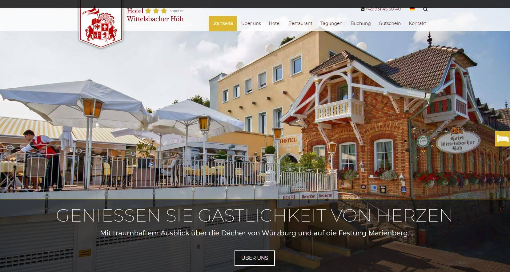 Screenshot Hotel Wittelsbacher Höh