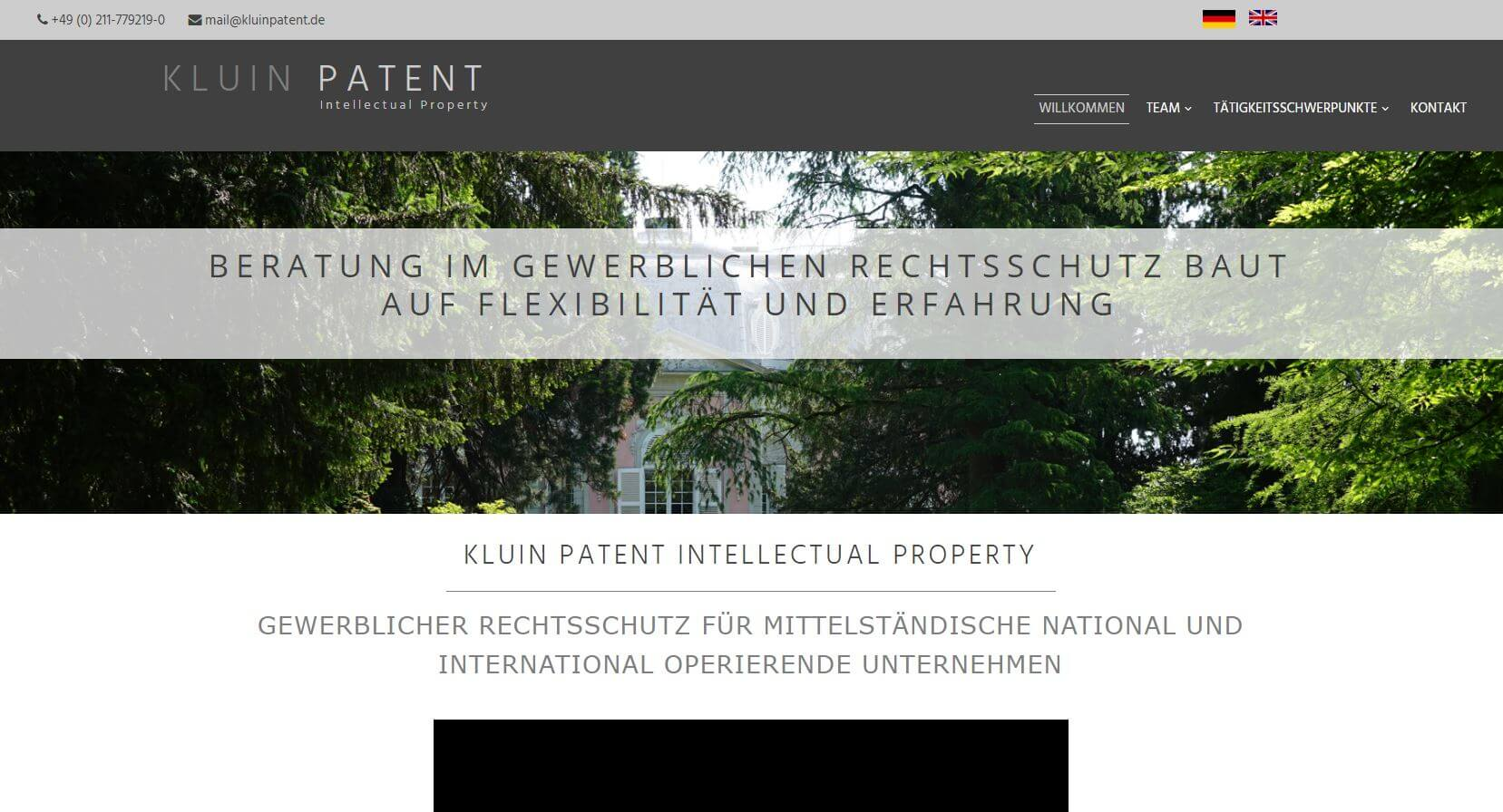 Screenshot Kluin Patent