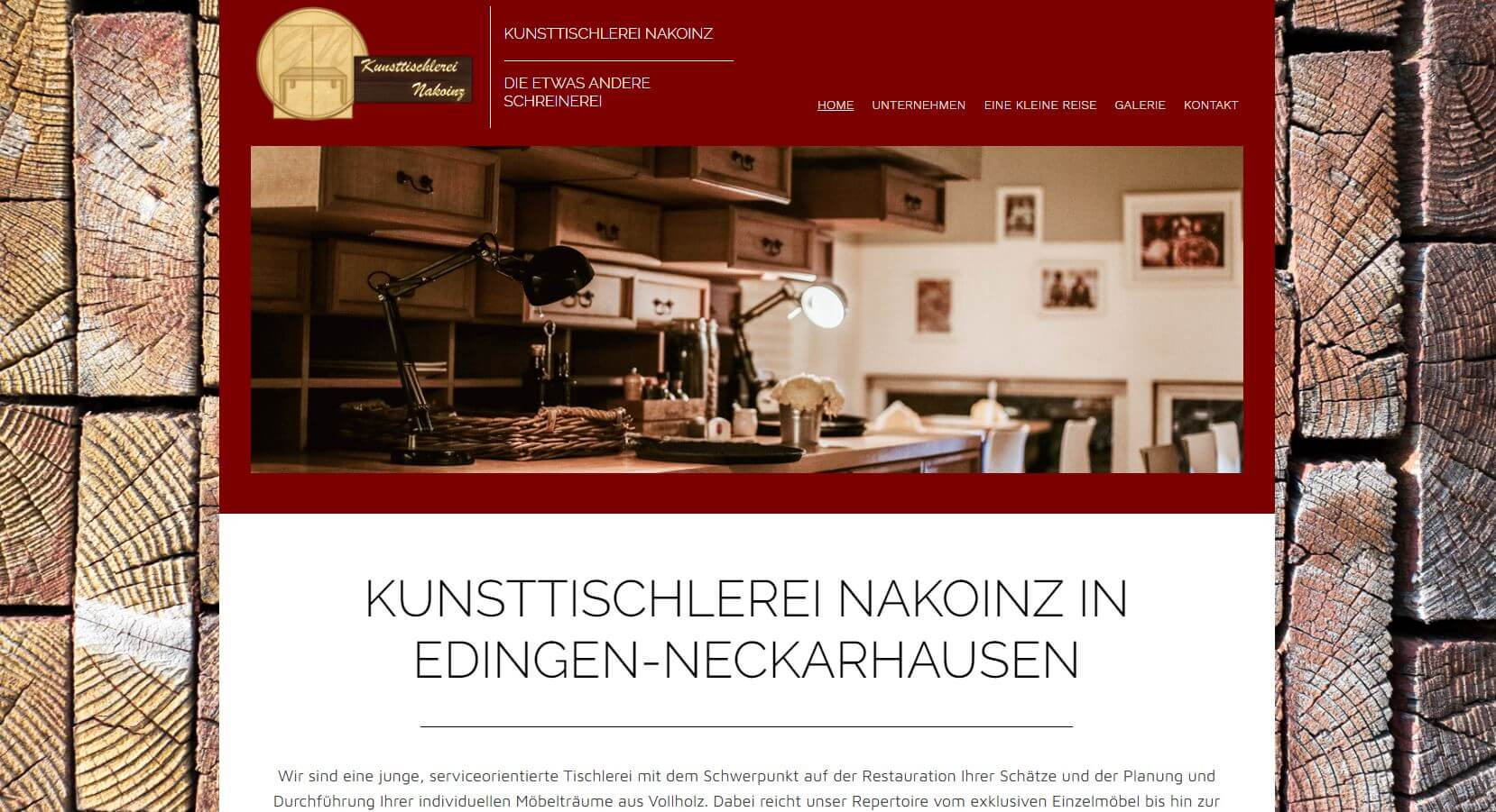 Screenshot Kunsttischlerei Nakoinz