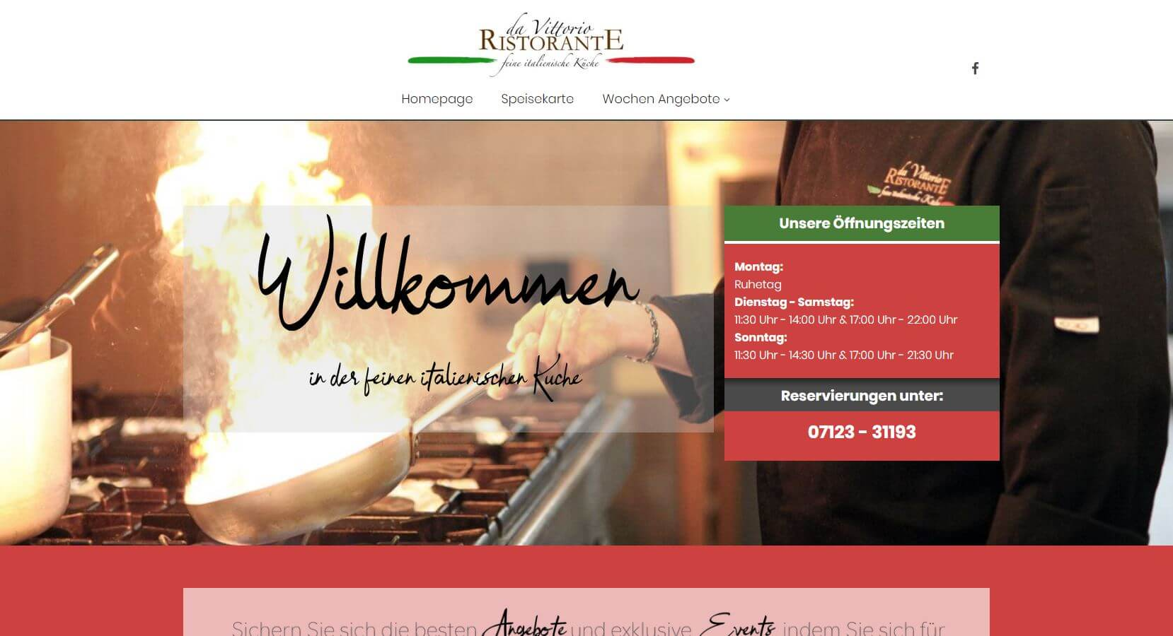 Screenshot DaVittorio Restaurant