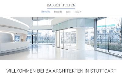 Referenz für Homepage Starter BA Architekten