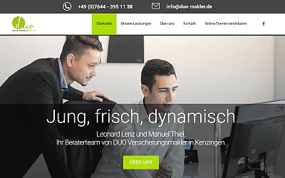Referenz für Homepage Starter Duo Makler