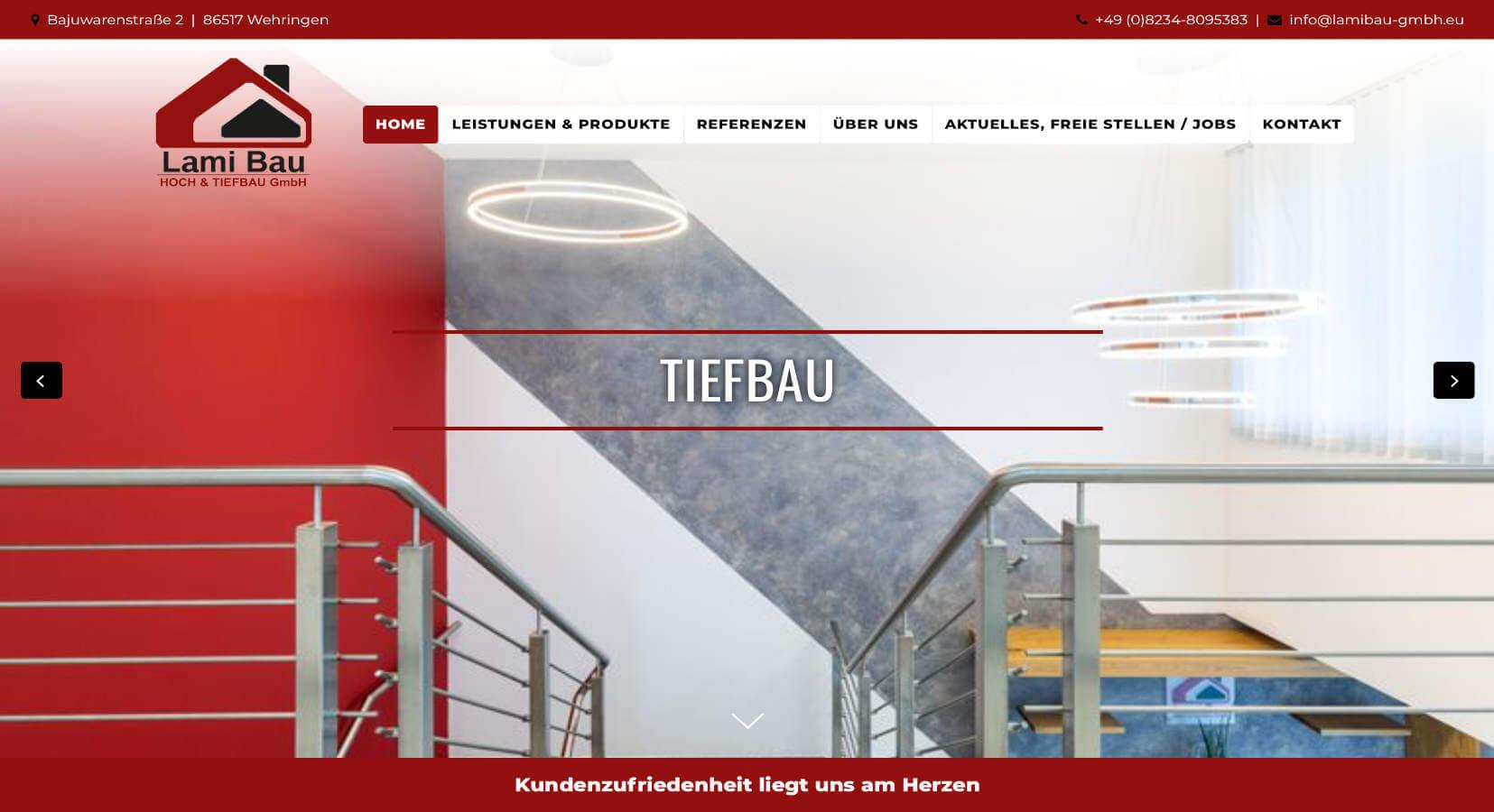 Homepage Referenz Lami Bau