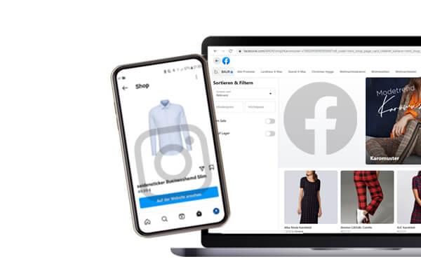 Online-Shop auf Facebook und Instagram einbinden
