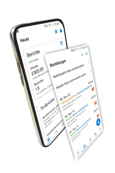 Online-Shop Verwaltung per App