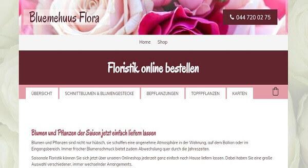 online Shop Referenz Bluemehuus Flora