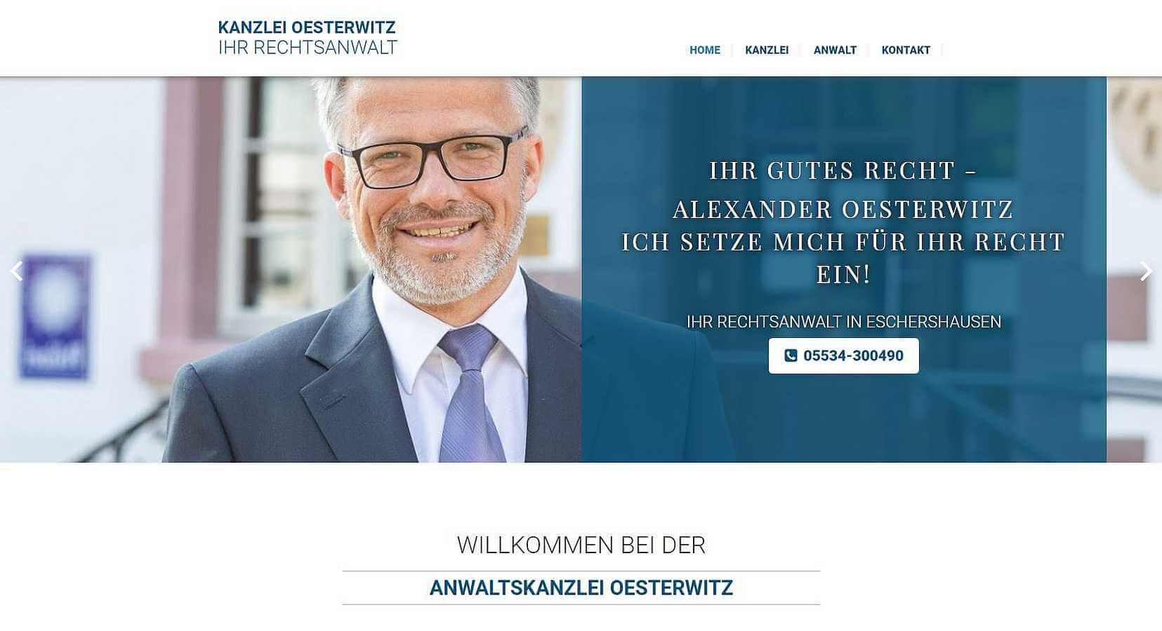 Homepage Referenz Kanzlei Oesterwitz