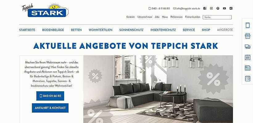 Homepage Individuell Referenz Teppich Stark