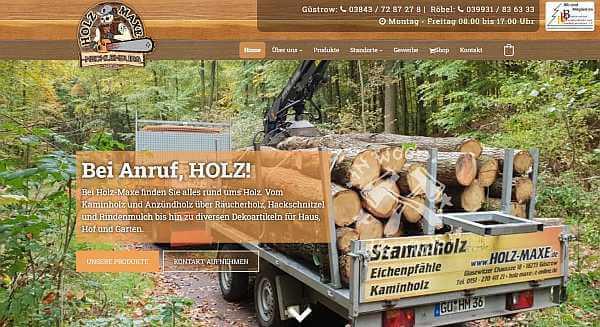 Online-Shop Referenz Holz Maxe